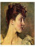 Portrait of Countess von de Leusse Premium Giclée-tryk af Giovanni Boldini
