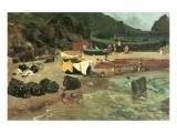 Fishing Boats in Capri Premium Giclee Print by Albert Bierstadt