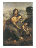 The Virgin and Child with Saint Anne Premium-giclée-vedos tekijänä  Leonardo da Vinci