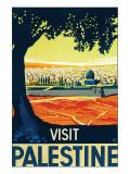 Visit Palestine Premium Giclée-tryk af Franz Kraus
