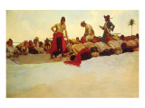 So The Treasure Was Divided Premium Giclée-tryk af Howard Pyle