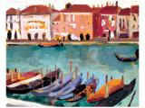 Gondoles a Venise Exklusivt gicléetryck av James Wilson Morrice