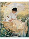 Young Mother in the Garden Premium Giclee Print by Mary Cassatt