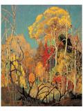 Autumn in Orillia Premium Giclée-tryk af Franklin Carmichael