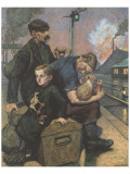 The Emigrants Premium Giclee Print by Hans Baluschek