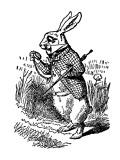 Alice's Adventure's in Wonderland Stampa giclée premium di Tenniel, John
