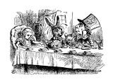 Alice's Adventure's in Wonderland Premium Giclee-trykk av John Tenniel