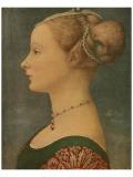 Portrait of Ignota, c.1433-1489 Premium Giclée-tryk af Antonio Pollaiolo