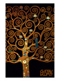 In the Tree of Life Exklusivt gicléetryck av Gustav Klimt