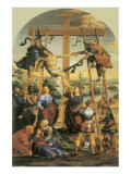 The Descent From The Cross Premium Giclée-tryk af Giovanni Antonio Bazzi Sodoma
