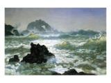 Seal Rock, California Reproduction giclée Premium par Albert Bierstadt