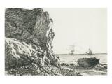 Cliffs And The Sea Impressão giclée premium por Claude Monet