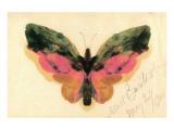 Butterfly Premium Giclée-tryk af Albert Bierstadt