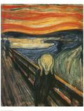 Skriget Premium Giclée-tryk af Edvard Munch
