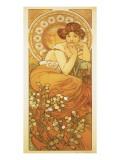 The Precious Stones: La Topaze Lámina giclée prémium por Alphonse Mucha