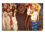 The Hostile Force, c.1902 Impressão giclée premium por Gustav Klimt