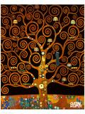 Sotto l'albero della vita Stampa giclée premium di Gustav Klimt