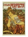 Cycles Perfecta Giclée-Premiumdruck von Alphonse Mucha