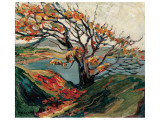 Tree in Autumn Premium Giclée-tryk af Emily Carr