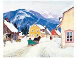 Laurentian Village Premium Giclée-tryk af Clarence Alphonse Gagnon