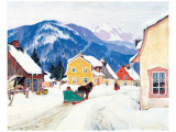 Laurentian Village Premium Giclee Print by Clarence Alphonse Gagnon