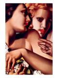 Filles et Lilas Premium Giclee-trykk av Tamara de Lempicka