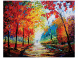 Autumn Impressions Premium Giclee Print by Maya Green