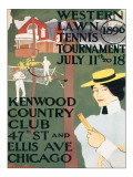 Western Lawn Tennis Tournament Premium Giclee Print by Edward Penfield