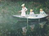 Boating At Giverny Plakat af Claude Monet