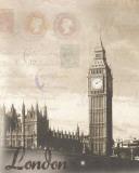 London Travelogue Poster von Ben James