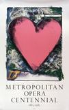 Pink Heart Impressão colecionável por Jim Dine
