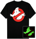 Ghostbusters- Ghost Logo (Glow in the Dark) T-shirts