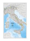 イタリアの地図 高品質プリント : 地図(ナショナル・ジオグラフィック)