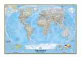 Politisk verdenskart Premium Giclee-trykk av  National Geographic Maps