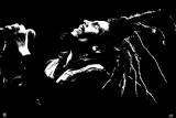 Bob Marley tijdens optreden Print