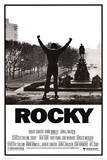 Filmposter Rocky, met geheven armen Foto
