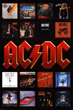 AC/DC - Album Covers アートポスター