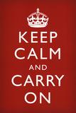 Blijf kalm en ga door Poster
