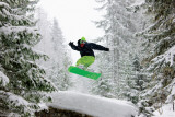 Snowboarder - Green Posters