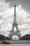 Parigi, automobile rossa Poster
