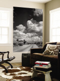 Cumulus Clouds Billowing over Texaco Gas Station along a Stretch of Highway US 66 Wall Mural by Andreas Feininger