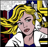 M-Maybe, cerca de 1965 Impressão montada por Roy Lichtenstein