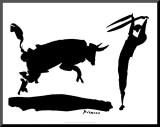 Corrida de toros III Lámina montada en tabla por Pablo Picasso