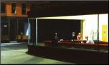 Nachtbrakers, Nighthawks, ca.1942 Kunst op hout van Edward Hopper