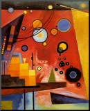Heavy Red Mounted Print by Wassily Kandinsky