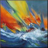 Sejlsport  Monteret tryk af Max Laigneau
