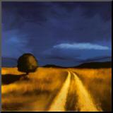 Veien hjem Montert trykk av Tandi Venter