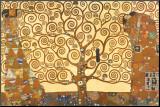 De levensboom Kunst op hout van Gustav Klimt