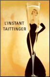 Reclameposter L'Instant Taittinger Kunst op hout