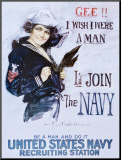 Gee!! I Wish I Were a Man, c.1918 Mounted Print by Howard Chandler Christy